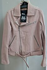 BLK DNM NYC Leather Biker Moto Jacket Dusty Pink Leather M NWT $1195