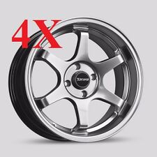 Dr-53 Concave wheels 16x8.25 4x100 low offset Hyper Black Corolla Prius Rims