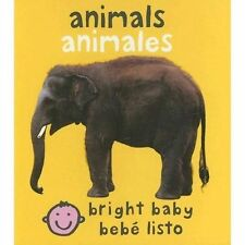 Bright Baby: Animales by Roger Priddy (2007, Board Book, Bilingual)