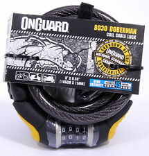 OnGuard Doberman 8030 Combo Bicycle Cable Lock 6' x 15mm