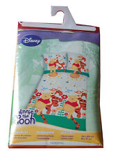 GENUINE DISNEY WINNIE THE POOH SINGLE BED DUVET COVER PILLOWCASE SET 100% COTTON