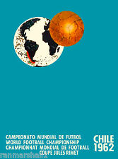 1962 World Cup Soccer Football Chile Sports Travel Advertisement Poster