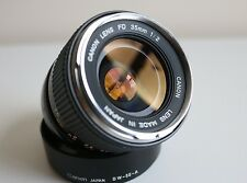Canon FD 35mm f2 Silver Nose Concave Thoriated Lens w/Hood (Mint and Rare)