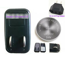 1x EU Charger + 4x LIR2032 Rechargeable Button Coin Battery + 1x US Plug Adapter