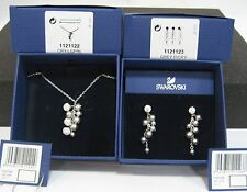 Swarovski Rumo small Necklace & Earrings Sets, Crystal Pearl 1121122 & 11211123