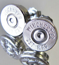 357 Magnum WINCHESTER Bullet Earrings Silver Nickel Mag Cufflinks Available NEW