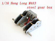 Upgrade Steel GearBox for 1/16 Henglong Tank Short Axis
