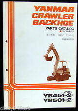 Yanmar Crawler Diesel Backhoe Parts Catalog YB451(-2)  YB501(-2) 3rd Ed Nov 1991