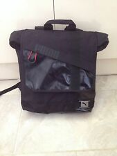Puma Originals Mens Bag Backpack Black Red Zip Inner Pocket Carry Handle