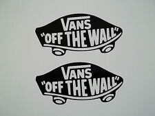 2 x Vans Off The Wall Vinyl Decal Stickers Skateboard Clothing Ski Skate Car