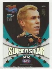 2010 AFL CHAMPIONS SUPERSTAR GEM MG11 Brett Ebert Port Adelaide SELECT CARD