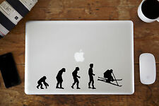"Evolution of Skiing Decal Sticker - Apple MacBook Air/Pro Laptop 11"" 12"" 13"" 15"""