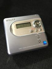 SONY WALKMAN MINIDISC HI-MD AUDIO MZ-NH600 WORKING EXCELLENT SOUNDING + 2 HI-MD