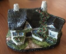 Vintage Chalkware Charming English Tudor Country Cottage House Sculpture