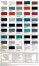 1994 Mercury COLOR CHART Chip Paint Brochure: GRAND MARQUIS,CAPRI,COUGAR XR7,