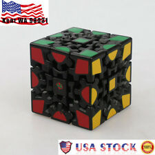 USA Kids Child 3D Gear Magic Cube Generation Painted Sticker Twisty Puzzle Toy