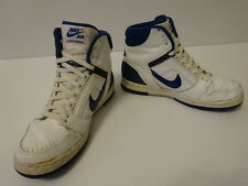 Vintage 80s Original NIKE Swoosh 1987 AIR FORCE HI Basketball Shoes 9 ..870403PD