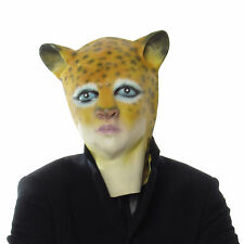 Adult Cheetah Overhead Rubber Mask Fancy Dress Animal Cheetah Cat Animal Mask