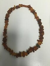 Natural Rough Baltic Amber Stone Butterscotch Egg Yolk Necklace 25grams