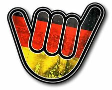 No Worries Hand Design With Grunge Style Germany German Flag vinyl car sticker