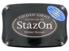 STAZON Solvent Ink Pad TIMBER BROWN  Tsukineko Archival