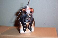 Hund-Bulldogge-Rocker-Glas-Lauscha-kreativer Weihnachtsbaumbehang-wunderschön