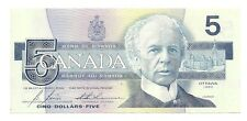 1986 CANADA FIVE DOLLAR BANK NOTE