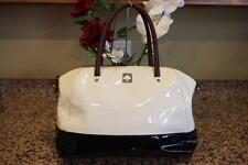 Kate Spade white/ black  Kingsbury Park Large Catalina SATCHEL BAG (PU700