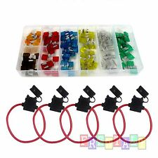 5 Pack Fuse Holder &120 mini Blade Assortment Car Truck Motorcycle Kit APM ATM