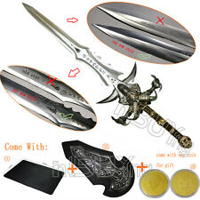 "47"" Frostmourne Craft lich Sword Replica Gift 1:1 Scale Blunt + Coin + Mouse Pad"