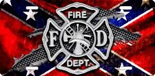 Fire dept new design Airbrushed car tag license plate 7
