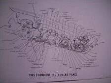 1965 Ford Econoline Wireing Wiring Diagram covers all! 11x17 oversize 8 pgs