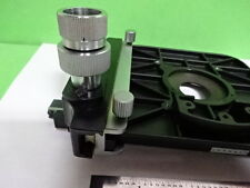 MICROSCOPE PARTS LEITZ GERMANY STAGE SPECIMEN TABLE MICROMETER AS IS #4T-B-13