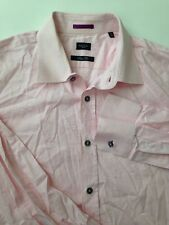 Paul Smith Men's Slim Fit Made In Italy French Cuff Dress Shirt Solid Pink A0523