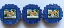 Yankee Candle BLUEBERRY SCONE LOT OF 3 TARTS WAX MELTS NEW HTF
