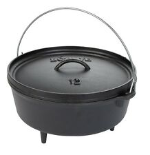 Lodge Logic L12DCO3 Cast Iron 8 Quart Camp Dutch Oven