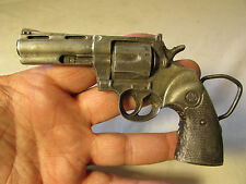 Vintage 1978  Bergamot Belt Buckle shape of  Hand GUN  REVOLVER