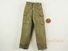 1/6 Figur US Army Soldier Green Pants Trousers Stone Washed Uniform DA201