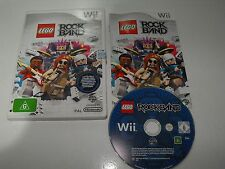 """Lego Rock Band For Nintendo Wii """"Fast And Free Postage"""""""