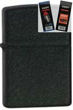Zippo 236 black crackle cigar Lighter with *FLINT & WICK GIFT SET*
