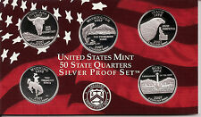 2007 SILVER 50 State Quarters  -   Dcam Proofs With Box & COA  -  FREE SHIPPING