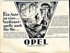 Opel--Ein Auto ist eine Verdienstquelle auch für Sie--Werbung von 1933-