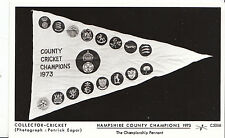 Sport Postcard - Cricket - Hampshire County Champions 1973 -  Pennant   BH2019