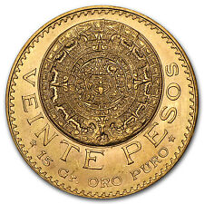 Mexican 20 Pesos Gold Coin - Random Year Coin - SKU #1044