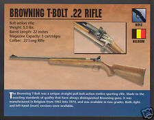 BROWNING T-BOLT .22 RIFLE Belgium Gun Atlas Classic Firearms PHOTO CARD