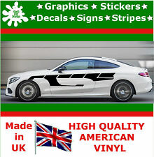 "10"" High Car Side Stripes Graphic Decal Vinyl Stickers Van Auto Rally Race F1_28"