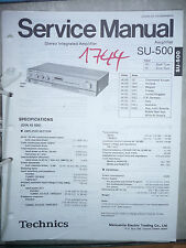 Service Manual Technics SU-500 Amplifier,ORIGINAL