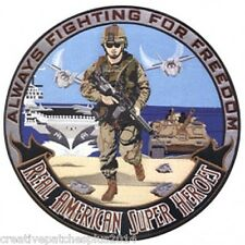 military biker patches Hero Real American  large back patch 12 inch