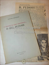 DIRITTO: Giovanni Napolitano, DEL PUDORE 1948 Amante Lady Chatterley CENSURA