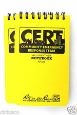 "2 Pack CERT All Weather Rite in the Rain 3""x5"" Pocket Notebook"